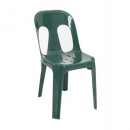 PIPEE PLASTIC STACKING CHAIR GREEN
