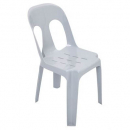 Pipee plastic stacking chair white