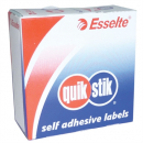 Quikstik dispenser labels rectangular 29x76mm 180 labels white