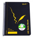Quill spiral bound notebook A5 200 page side opening with 2 note pockets