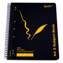 Quill spiral bound notebook A4 150 pages 3 subject
