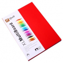 Quill multi board A4 210gsm pack 50 red