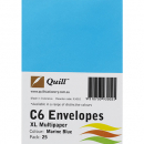 Quill 93002 coloured envelopes C6 pack 25 marine blue