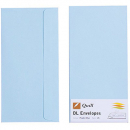 Quill 94004 coloured envelope DL pack 25 powder blue