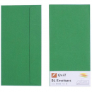 Quill 94006 coloured envelope DL pack 25 emerald