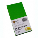 Quill 94007 coloured envelopes DL pack 25 lime