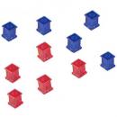 Quartet extra strong magnets squares pack 10
