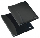 Rexel soft touch smooth display book 24 pocket black