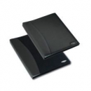 Rexel soft touch smooth display book 36 pocket black