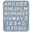 Esselte letter stencil 25mm