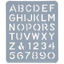Esselte letter stencil 40mm