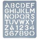 Esselte letter stencil 75mm