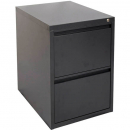 INITIATIVE FILING CABINET 2 DRAWER 475 X 600 X 675MM GRAPHITE RIPPLE