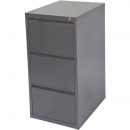 INITIATIVE FILING CABINET 3 DRAWER 464 X 620 X 980MM GRAPHITE RIPPLE