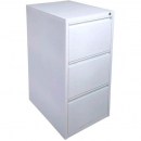 INITIATIVE FILING CABINET 3 DRAWER 464 X 620 X 980MM WHITE SATIN