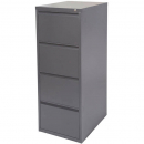 INITIATIVE FILING CABINET 4 DRAWER 464 X 620 X 1290MM GRAPHITE RIPPLE
