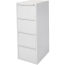 INITIATIVE FILING CABINET 4 DRAWER 464 X 620 X 1290MM SILVER GREY