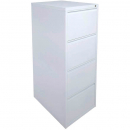 INITIATIVE FILING CABINET 4 DRAWER 464 X 620 X 1290MM WHITE SATIN