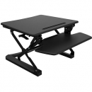 Rapid riser small desk based adjustable workstation 680 x 590mm black