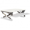 Rapid riser small desk based adjustable workstation 680 x 590mm white
