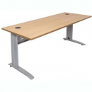 Rapid span desk metal modesty panel 1800 x 700mm beech
