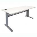 Rapid span desk metal modesty panel 1800 x 700mm white/silver