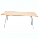 Rapid span meeting table 1800 x 750mm beech/silver