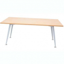 Rapid span meeting table 1800 x 900mm beech/silver