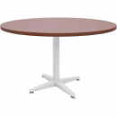 Rapid span 4 star round table white pedestal base 1200mm cherry