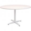 Rapid span 4 star round table white pedestal base 1200mm warm white