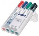 Staedtler lumocolor whiteboard marker bullet point 2.0mm wallet 4