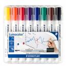 Staedtler lumocolor whiteboard marker bullet point 2.0mm wallet 8