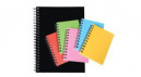 Spirax hard cover notebook A5 200 page black