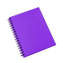 Spirax hard cover notebook A5 200 page purple