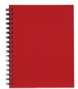 Spirax hard cover notebook A5 200 page red