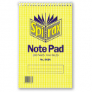 Spirax spiral bound notepad 200 x 127mm 200 pages top opening