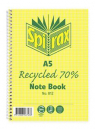 Spirax spiral bound recycled notebook A5 120 page side opening