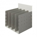 RAPID SCREEN DOCUMENT DIVIDER 4 SPACE PRECIOUS SILVER