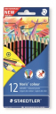 Staedtler 185 c12 noris colour coloured pencils assorted box 12