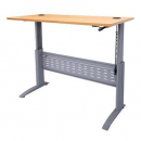 Rapid span electric height adjustable desk 1500 x 700mm beech/silver