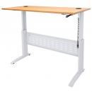 Rapid span electric height adjustable desk 1200 x 700mm beech/white