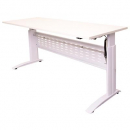 RAPID SPAN ELECTRIC HEIGHT ADJUSTABLE DESK 1500 X 700MM WHITE