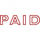 Shiny sen001-2 message stamp outline text red 'PAID'