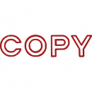 Shiny sen002-2 message stamp outline text 'COPY'