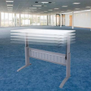 RAPID SPAN ELECTRIC HEIGHT ADJUSTABLE DESK 1200 X 700MM WHITE/SILVER