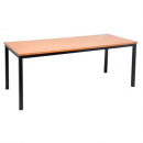 Rapidline steel frame table 1200 x 600mm beech