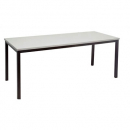 Rapidline steel frame table 1200 x 600mm grey