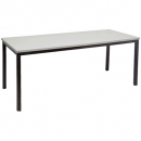 Rapidline steel frame table 1500 x 750mm grey