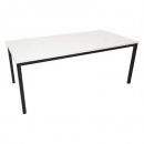 Rapidline steel frame table 1500 x 750mm white