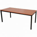 Rapidline steel frame table 1800 x 750mm cherry